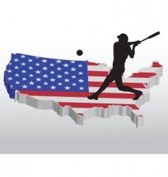 American baseball player vector