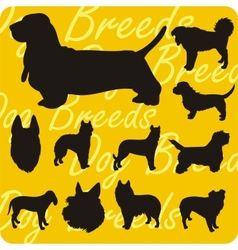Silhouettes of dogs - set vector
