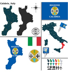 Map of calabria vector