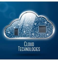Cloud computing technology concept vector