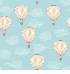 Balloons flying in the sky vector