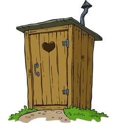 Rural toilet vector