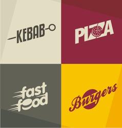 Fast food logos vector