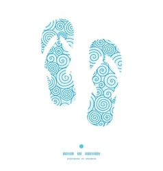 Abstract swirls flip flops silhouettes pattern vector