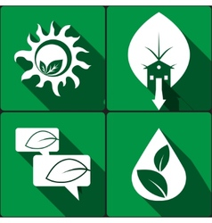 Set of stickers icons environmental protection vector