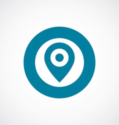 Map pin icon bold blue circle border vector