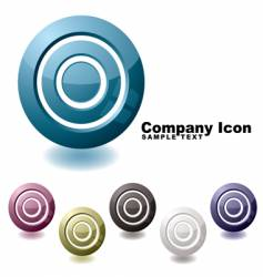 Target variation icon vector