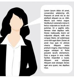 Explaining business woman illustration vector