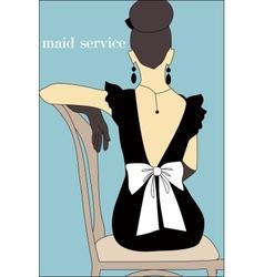Maid service vector