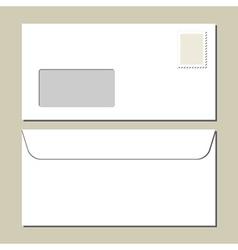 White mailing envelope vector