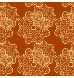 Seamless outlined mandala flower like background vector