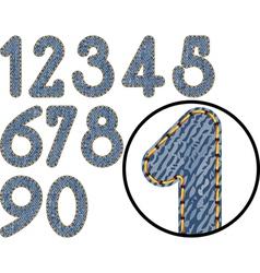 Denim numbers vector