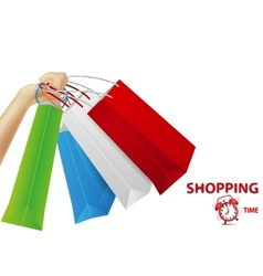 Shopping concept background vector