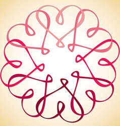 Interlinked heart circle in format vector