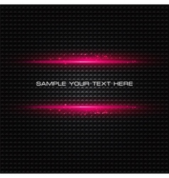 Abstract dark background with pink color light vector