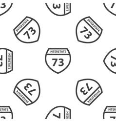Interstate 73 pattern vector