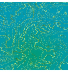 Topographic map ocean and yellow sand vector