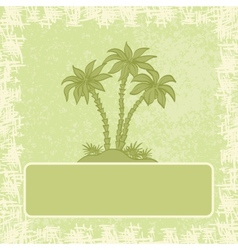 Exotic background palm and frame vector