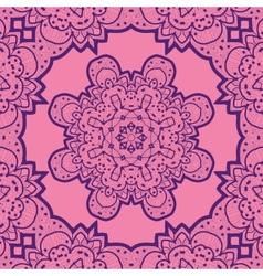 Violet flower mandala like design vinatge element vector