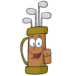 Golf bag cartoon character vector