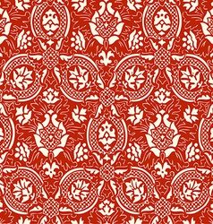 Red lace seamless abstract floral pattern vector