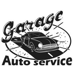 Garage label auto service vector