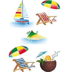 Bright recreation set vector