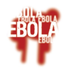 Ebola virus abstract background vector