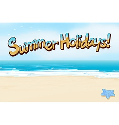 A summer holiday vector