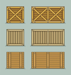 Wooden boxes vector