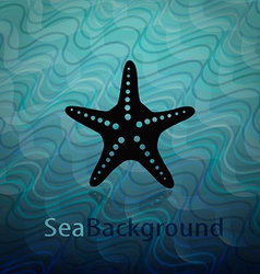 Sea background with starfish vector