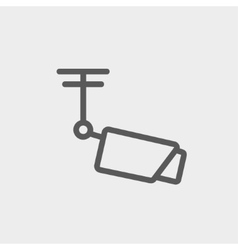 Rooftop antenna thin line icon vector