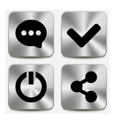 Web icons on metallic buttons set vol 6 vector