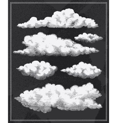 Chalkboard vintage clouds background vector