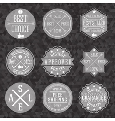 Collection of hipster vintage business labels with vector