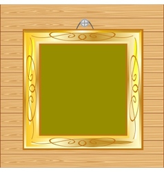 Frame on wall from tree vector