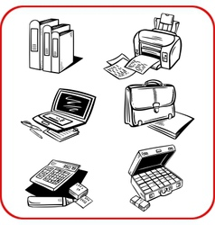 Business and office set vector
