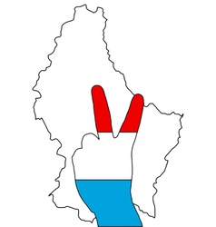 Luxembourg hand signal vector