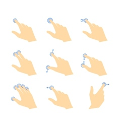 Touch gestures icons vector
