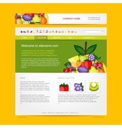 Website design template fruits style vector