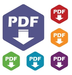 Pdf download rhombus icons vector