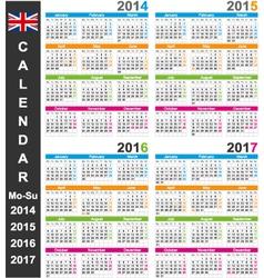 Calendar 2014-2017 vector