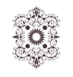 Baroque ornament vector