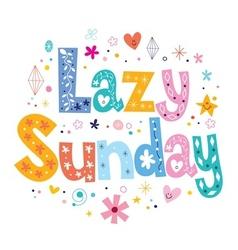Lazy sunday vector