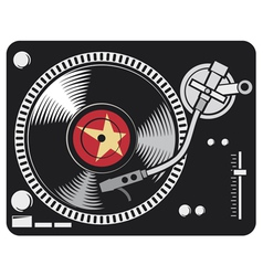 Dj music turntable vector