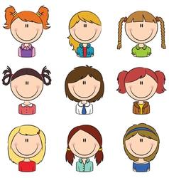Girls avatar vector
