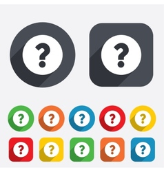 Question mark sign icon help symbol vector