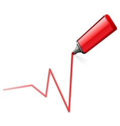 Highlighter pen draw graph vector
