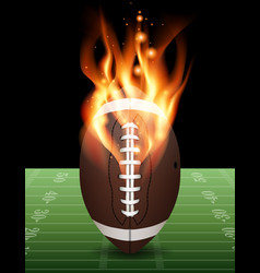 American football field on fire vector