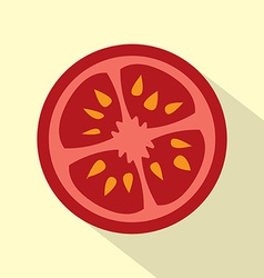 Flat design tomato icon vector